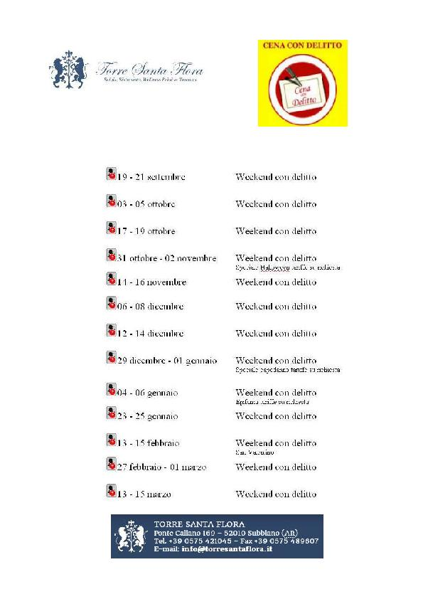 Calendario we con delitto